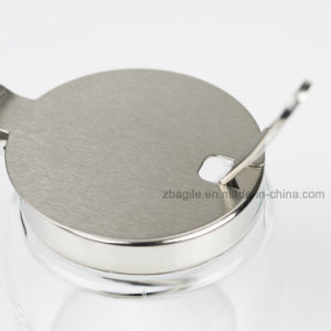 100057 Glass Spice Jar with Stainless Steel Lid and Spoon pictures & photos
