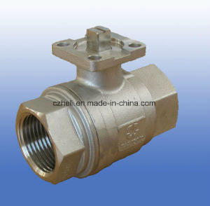 3PC Stainless Steel Pn69 ISO5211 Mounting Pad Ball valve pictures & photos