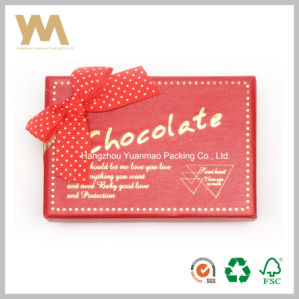 Romatic Red Chocolate Packing Box with Ribbon pictures & photos