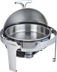 High Quality Round All Turn 6 Liter Stainelss Steel Chafing Dish pictures & photos