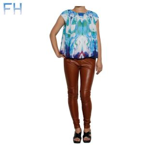 Ladies Digital Print Chiffon Top