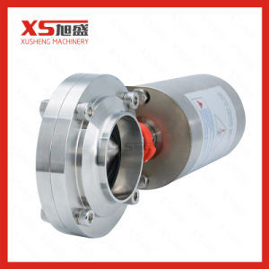 Stainless Steel Sanitary Pneumatic Air Operated Butterfly Valve pictures & photos