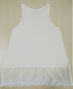 Women Fashion Apparel Sexy Lace Youth Black Sleeveless Dress pictures & photos