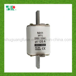 Nh1 (NT1) 125A LV HRC Knife Type Fuse Link pictures & photos