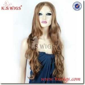 Kanekalon Hair Front Lace Wig Synthetic Hair Wig pictures & photos