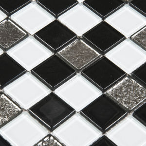 Black Mix White Color Crystal Glass Mosaic Tile
