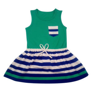 Tc Baby Girl Dress with Stripe in Children′s Wear (TCD002) pictures & photos