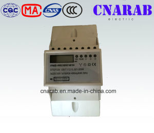 Three-Phase Four-Wire Electronic DIN-Rail Active Energy Meter (4P, LCD Display) pictures & photos