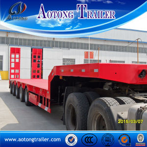 5 Axle Low Flatbed Semi Trailer, 16m Heavy Equipment Transporting Truck Trailer pictures & photos