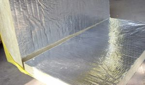 Rock Wool Board with Aluminum Foil on One Side, Rock Wool Board pictures & photos