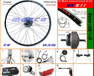 250W 350W 500W Front Wheel Brushless Motor Kit E Bike Electric Bicycke Scooter Kits pictures & photos