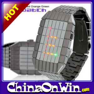 Fancy Japanese Inspired Red Orange Green LED Watch
