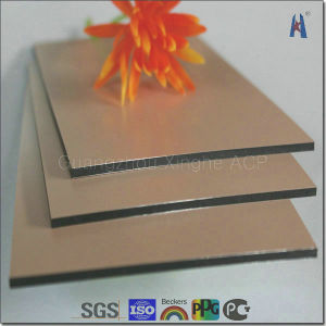 Silver and Gold Mirror Faced Aluminum Composite Panel (XH005) pictures & photos