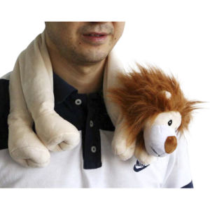 Hot Cold Ice Gel Pack for Pain Relief Beneficial to Human Body Health Animal Lion Neck Pillow (P20090)