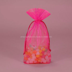 Perfect Stitched Flat Bottom Organza Bag (AM-OB004)