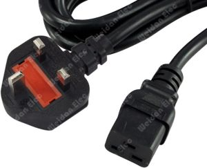 13A Fuse, UK 3p to IEC C13 Power Lead Cord pictures & photos