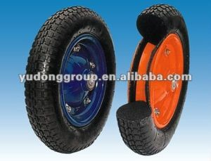 Supply PU Polyurethane Foam Wheelbarrow Tire/Rubber Wheel 13′′x3.25-8 pictures & photos