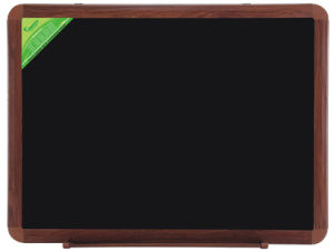 Single Side Black Chalk Board with Wooden Frame