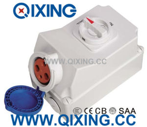 IP44 63A 3p 230V IEC Socket with Switch pictures & photos