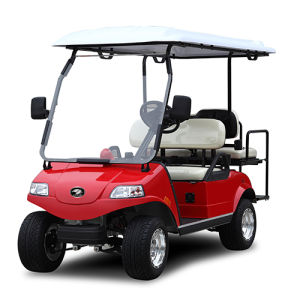 Golf Cart/Buggy with Solar Panel 2+2-Seater Blue pictures & photos