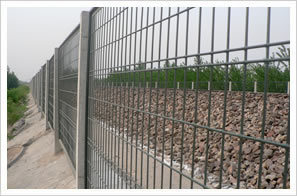 PVC Coated Railway Barrier Fence Various Colors Vailable
