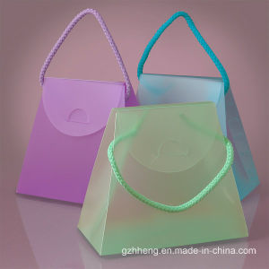 Transparent Clear Fashion Folding PVC gift box (plastic cosmetic bag) pictures & photos