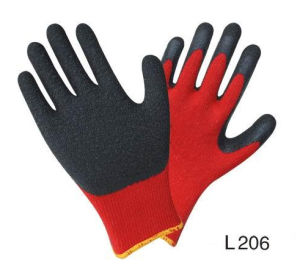 Working Gloves Latex Gloves for Workers Crinkle Latex Coated Gloves pictures & photos
