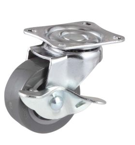 1 Inch Swivel Wheel Furniture PU Caster (gray) pictures & photos