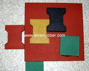 Dogbone Rubber Tile for Plaza& Footway pictures & photos