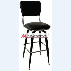 Classical Black Metal Frame Bar Stool (All-SBS1B)