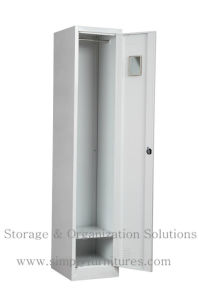 Gym Metal Single Door Lockers for Key Lock (SMPSL-1D) pictures & photos