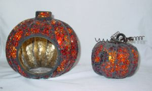 Holloween Glass Mossaic Lantern, Glass Candle Holder (DRL05108) pictures & photos