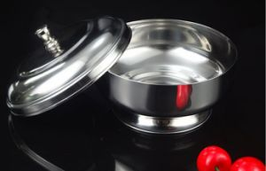3peices Stainless Steel Round Sugar Pot (JX-031) pictures & photos