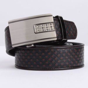 Real Leather and Alloy Auto Buckle Men Formal Dress Belt (RS-13040) pictures & photos