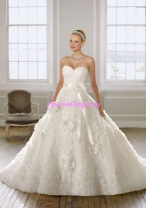 100% Guaranteed 2011 New a-Line Strapless&Sweethear Neckline Wedding Gowns/Bridal Gowns (ML-1601)