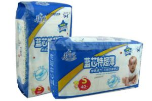 Baby Diapers S with Absorbant Layer and Magic Tape Ultra-Thin (A366) pictures & photos