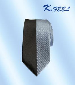 Men′s 100% Microfiber Woven Skinny Panel Necktie (KFLD-778)