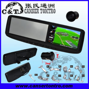 "4.3"" Car Rear View Mirror GPS LCD Monitor With Camera Kit (RVGSCDM)"