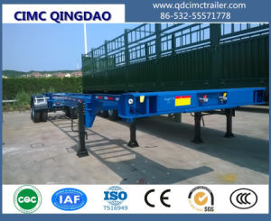 Aotong 3 Axles 40′ Shipping Port Container Chassis Semi Trailer pictures & photos
