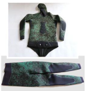 High Quality Camo Style Spearfishing Wetsuit with Adhesive., Diving Equipment, Surfing, 01