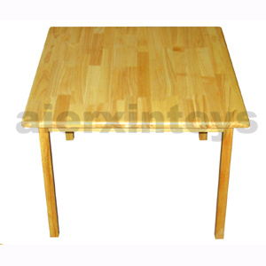 Wooden Furniture - Children Furniture - School Furniture -Square Table ( Solid Rubber Wood)