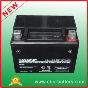 12V4ah Yb4l-BS Sealed Maintenance Free Motorcycle Battery Motorcycle Parts pictures & photos
