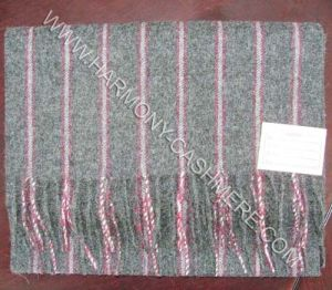 Woven Cashmere Soft Scarf with Strip pictures & photos