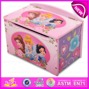 Classical Lovely Design Promotional Wooden Toy Storage Box, Creative Home Decoration Wooden Toy Storage Box W08c129 pictures & photos