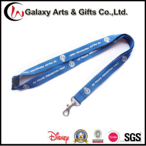 One Color Silk Creen Printed Blue Lanyards ID Badge Card Holder with Breakaway safety Buckle and P Hook pictures & photos