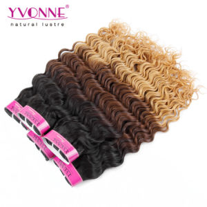 New Product Ombre Color Deep Wave Peruvian Human Hair Weave pictures & photos