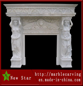 Cultured Marble Fireplace Surround with Statue (NS-1230) pictures & photos