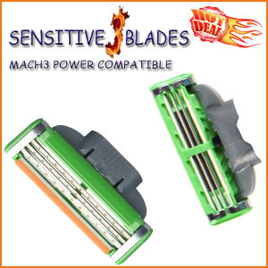 Compatible with Gillette Mach3 Shaving Razor Blade (4PCS/lot) pictures & photos