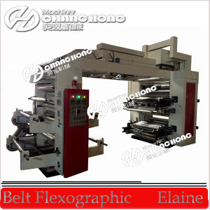 Stack Type 8 Color Plastic Film Flexographic Printing Machinery pictures & photos