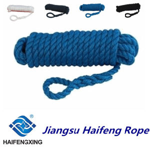 6-Strand Fiber Ropes Polypropylene, Polyester Mixed Mooring Rope pictures & photos